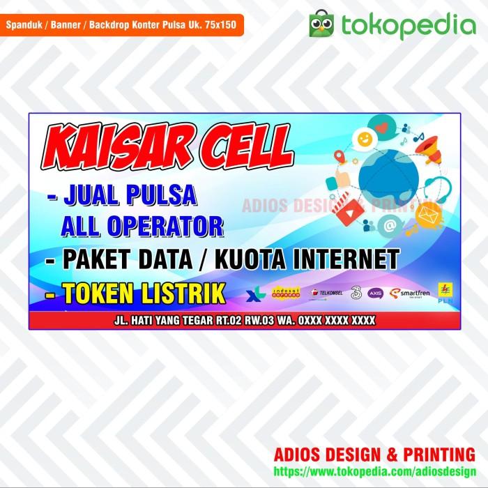 Jual Banner Spanduk Jual Pulsa Ukuran 150x75 Cm Murah Banget Kota Tangerang Adios Design Printing Tokopedia