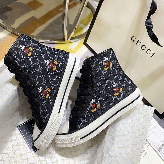 Jual Sneakers Gucci X Disney Mickey Sepatu Gucci X Disney Black