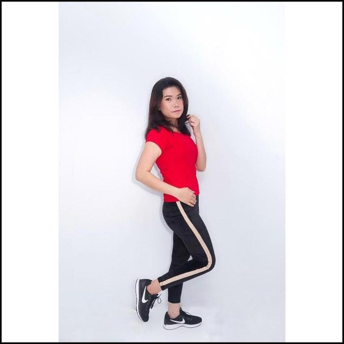 Jual Celana Legging Bahan Bludru List Asli Import Leging Velvet Klik Jakarta Timur Pebria Ramadhan Tokopedia