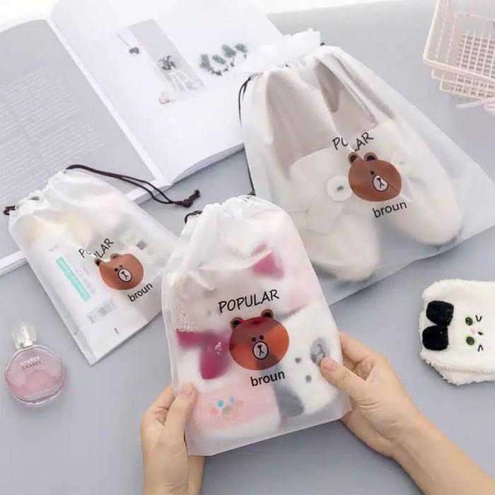 Foto Produk Travel Bag/Pouch Organizer Tas Serut Sepatu/Makeup/Kosmetik Serba Guna dari RajaSquishy
