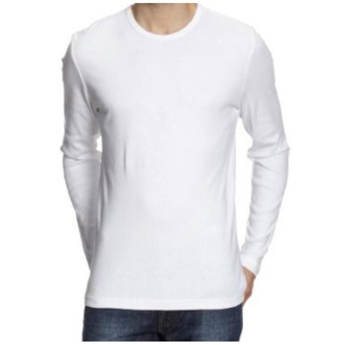 Jual Kaos Polos Baju Polos T Shirt Polos Lengan Panjang Berbagai Warna Putih S Jakarta Pusat Davent Store Tokopedia