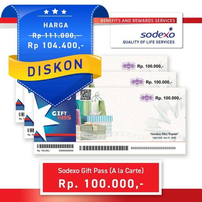 Foto Produk Voucher Sodexo Gift Pass Nominal Rp100.000 dari Sodexo Voucher Official