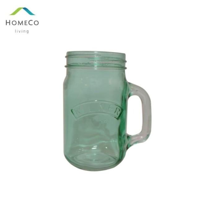 Foto Produk KILNER DRINKING JAR / GELAS TOPLES / MUG TOPLES 500 ML HIJAU dari Homeco Living Official