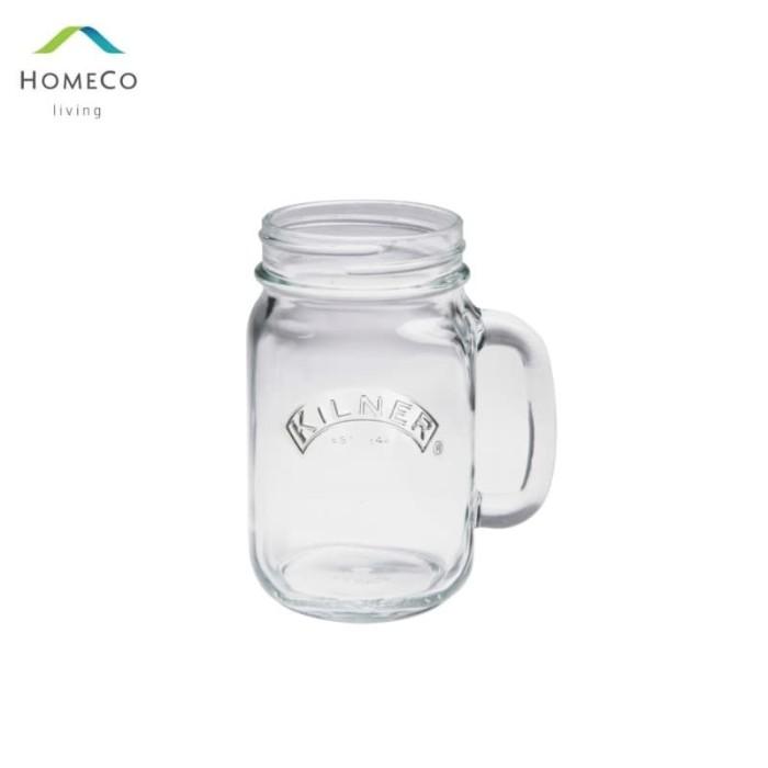 Foto Produk KILNER DRINKING JAR / GELAS TOPLES / MUG TOPLES 500 ML PUTIH dari Homeco Living Official