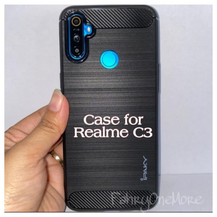 Foto Produk Case REALME C3 Premium Soft Case Handphone Carbon Ipaky (6,5 inch) dari FahryOneMore