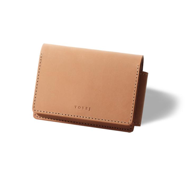Foto Produk VOYEJ Caravel VI Americana - Dompet Minimalis Kulit Asli Unisex - NATURAL dari VOYEJ Leather Goods