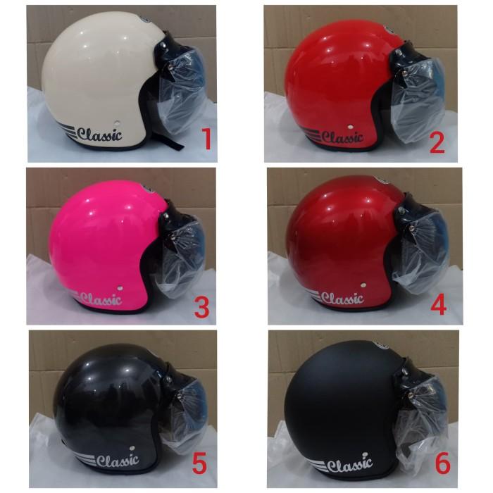 Foto Produk Helm BOGO dewasa polos kaca cembung dari Toko Helm.