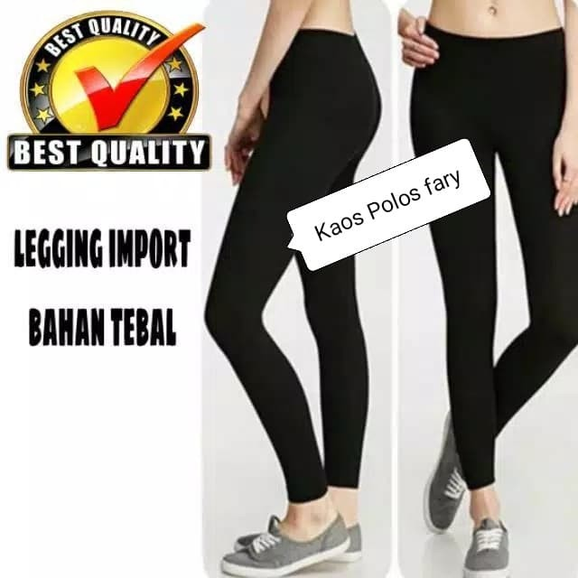 Jual Legging Import Korea Bahan Tebal Hitam All Size Fit S Xxl Kota Tangerang Selatan Kaos Polos Fary Tokopedia