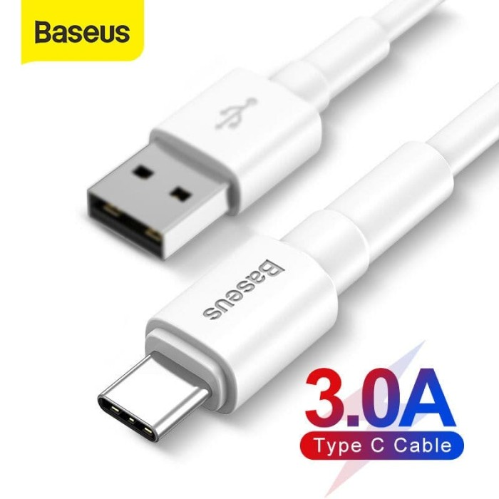Foto Produk Baseus USB Type C Cable 3A Quick Charge Untuk Samsung OPPO Xiaomi dari KoekMuraH