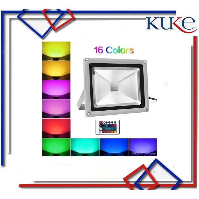 Foto Produk KUKE Lampu Sorot Led RGB 10W / Lampu Panggung Warna Warni + Remote dari KUKE
