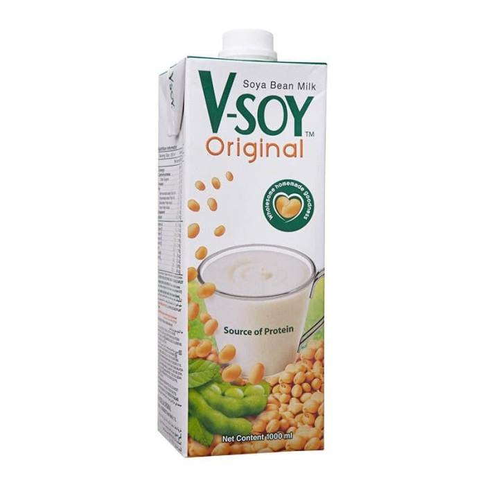 Jual V Soy Soya Bean Milk Vsoy Susu Kedelai 1 L Original Kota Surabaya Namiechan Tokopedia
