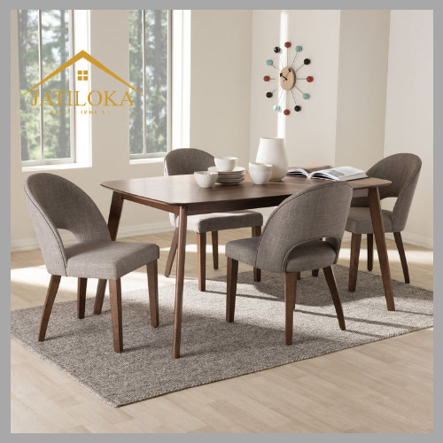 Jual Scandinavian Dining Table Set Meja Makan Set Meja Makan 4 Kursi Kab Jepara Jatiloka Furniture Tokopedia