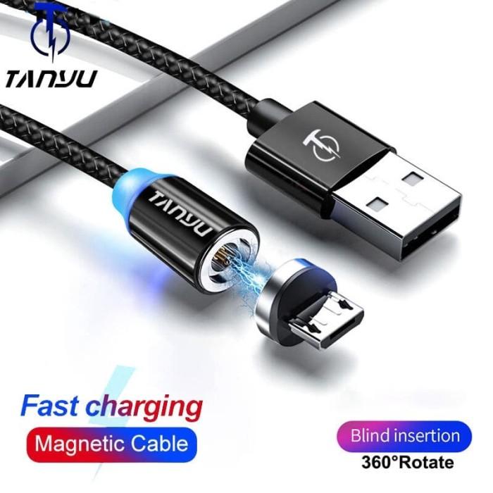 Foto Produk Tanyu Magnetic Micro Usb Cable 1M Fast Charging dari KoekMuraH