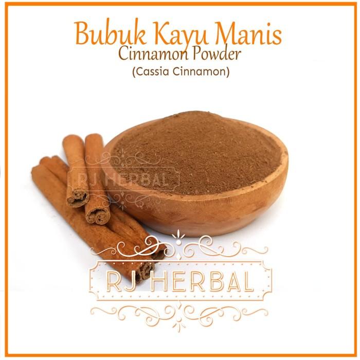 Foto Produk 100g Kayu Manis Bubuk / Keningar / Cassia Cinnamon Powder dari RJ Herbal