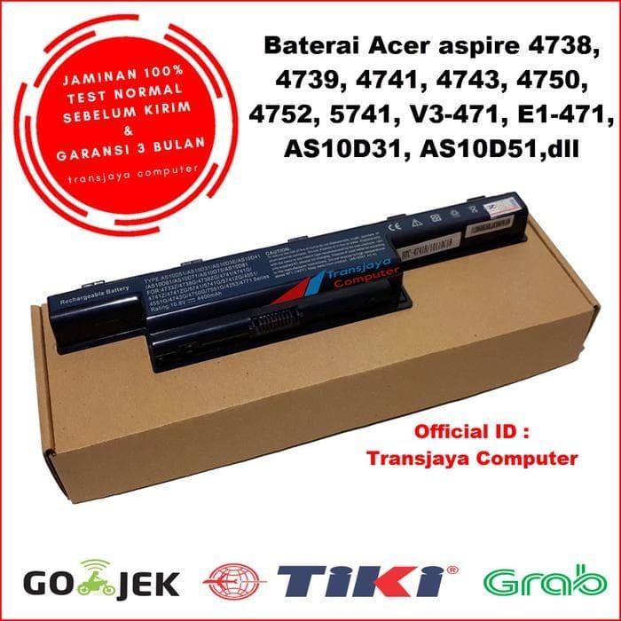 Jual Terbaru Baterai Battery Laptop Acer Aspire 4738 4739 4741 4743 4750 Jakarta Barat Faishol Farid Tokopedia