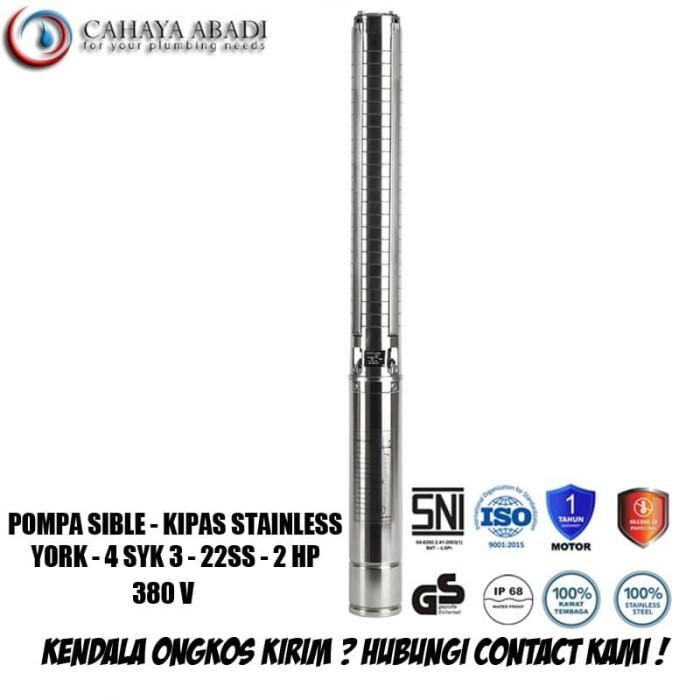 Foto Produk POMPA SUBMERSIBLE – 4SYK3 - 2 HP (22 SS) 380 V - YORK - TANPA BOX dari CAHAYA ABADI TKI