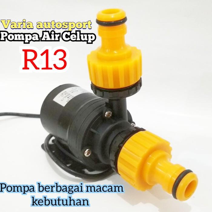 Jual Pompa Air Celup R13 Mini DC 12V Kolam ikan Aquarium ...