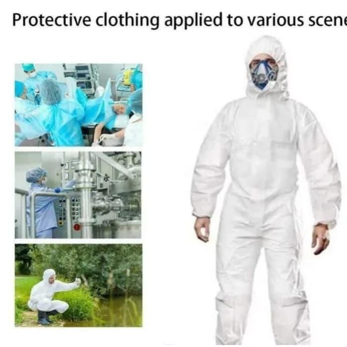 Foto Produk Disposable Breathable Coverall Hazmat APD bukan 3M atau Tyvek dari NC2SHOP