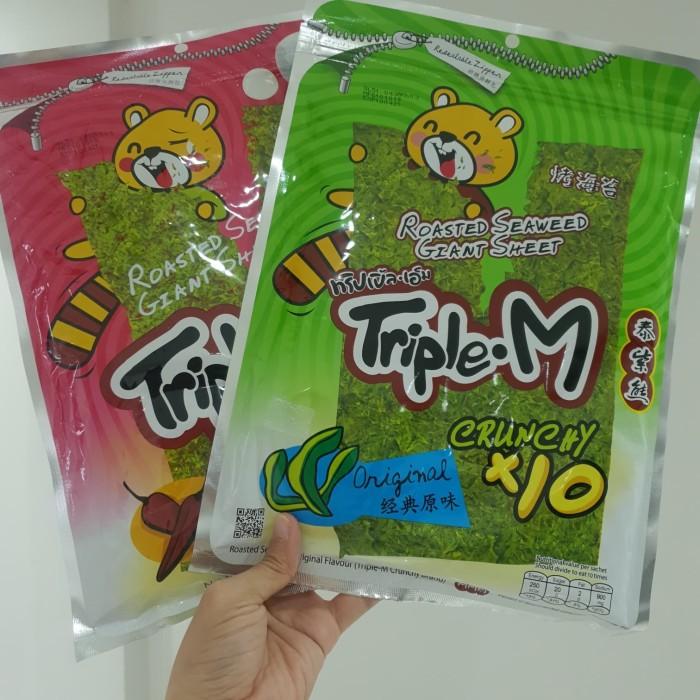Foto Produk roasted seaweed sheet triple M hai tai snack rumput laut - Pedas dari SumberRezeki Makmur
