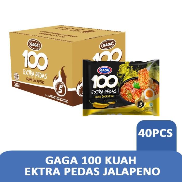 Foto Produk GAGA 100 Extra Pedas Kuah Jalapeno 75gr (1dus = 40 pcs harga grosir) dari Gaga Official Store