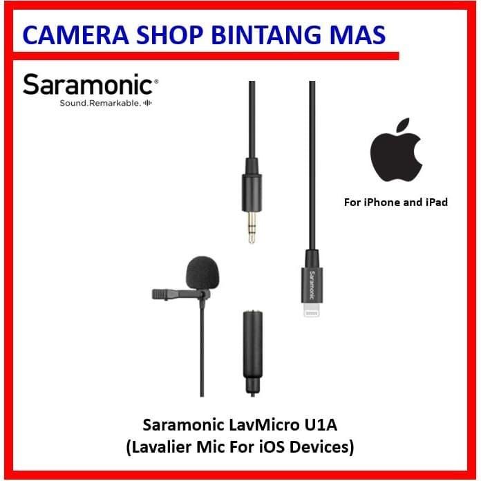 Foto Produk Saramonic LavMicro U1A - Lavalier Mic for iOS Lightning Devices dari Camera Shop Bintang Mas