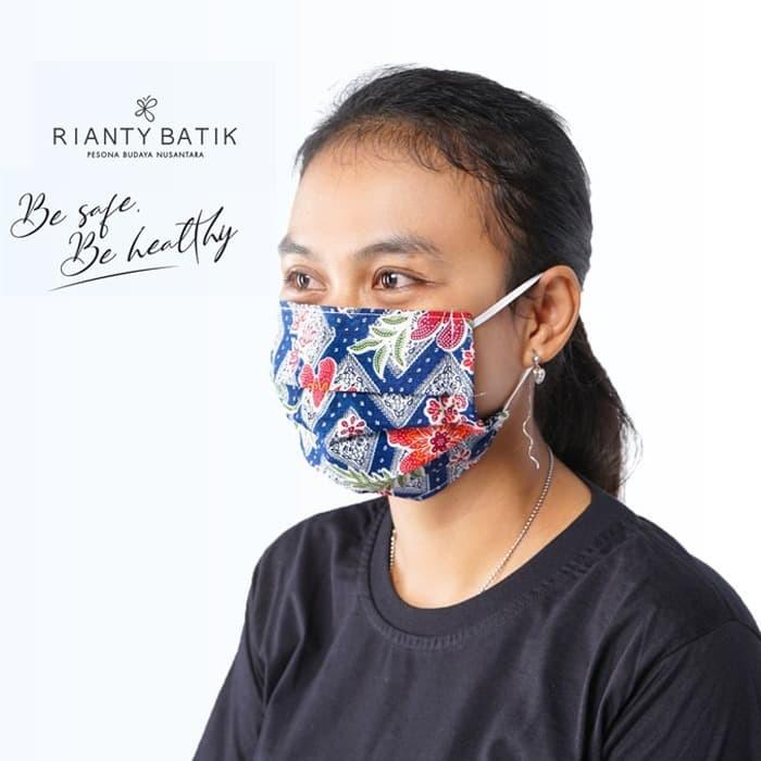 Jual Masker Kain 2ply BATIK Rianty Bisa Diselipkan Tisu ...