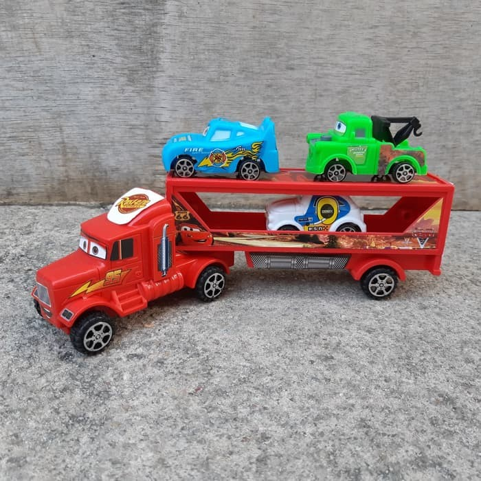 Foto Produk Mainan Mack Truk Trailer - Cars Mobil Angkut Anak Edukatif Truck dari anieta-ameera