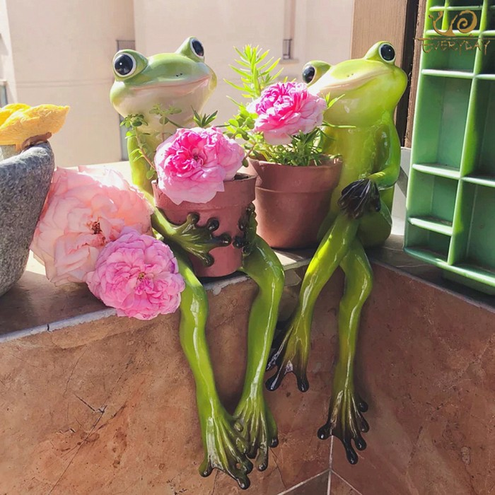 Jual Everyday Collection Resin Frogs Flower Pots Planters Home Decoration Jakarta Barat Nusa Store Tokopedia