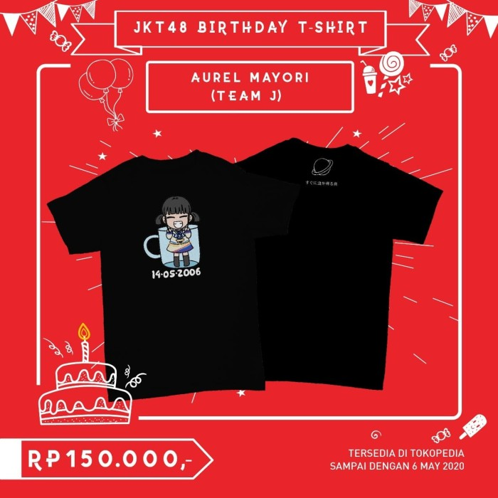 Foto Produk JKT48 Birthday T-Shirt (Aurel Mayori) - L dari JKT48 Official Shop
