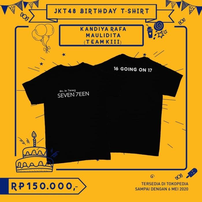 Foto Produk JKT48 Birthday T-Shirt (Kandiya Rafa M) - L dari JKT48 Official Shop