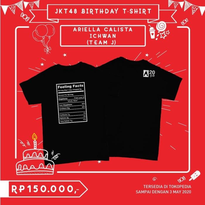 Foto Produk JKT48 Birthday T-Shirt (Ariella Calista Ichwan) - L dari JKT48 Official Shop