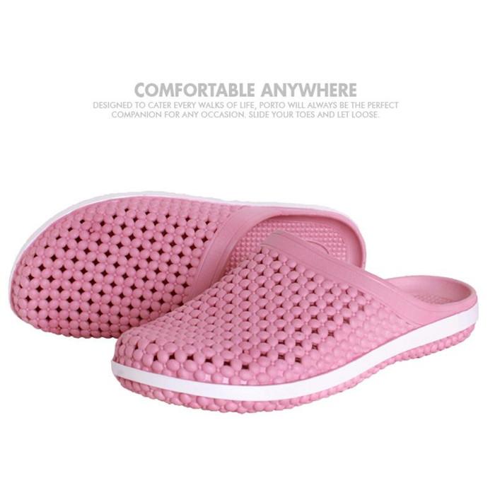 Foto Produk Sepatu Wanita Selop Nyaman Sandal Rumah Sandal Cansual 3019L - Merah Muda, 36 dari Porto Footwear