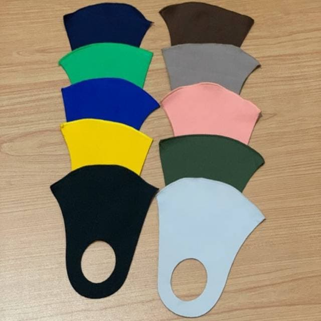 Foto Produk masker scuba tebal polos 3 warna kuning kunyit hitam biru coklat dari techno phone cikarang