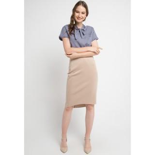 Foto Produk Blouse Wanita EDITION EB110 Femme Gingham - Navy, XS dari Edition Official Store