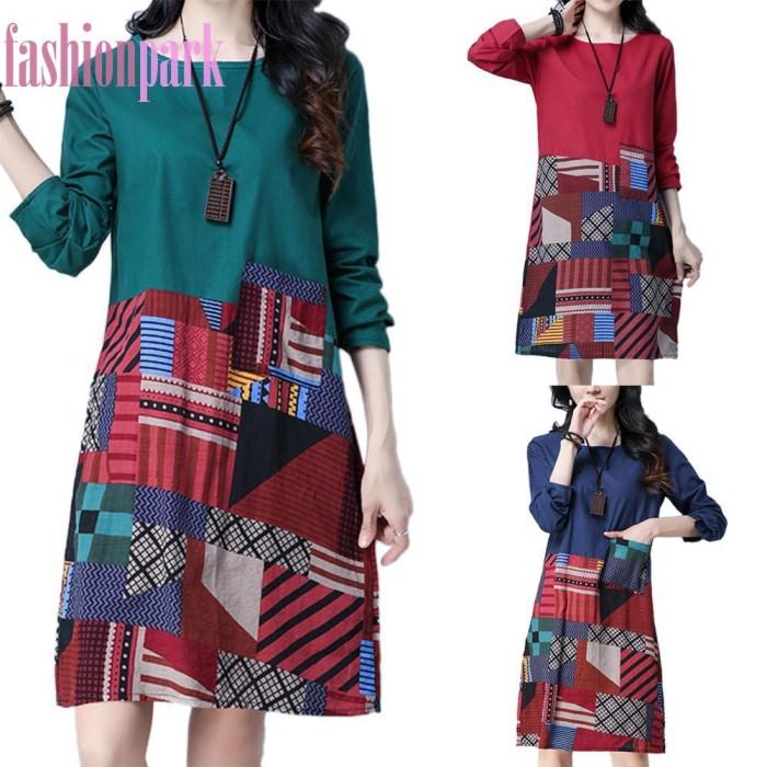Foto Produk Dress Kasual Lengan Panjang untuk Wanita dari MART EXELL