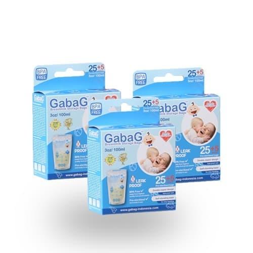 Foto Produk Bundling 3 Box Kantong Asi Gabag 100 ml Blue dari GabaG Indonesia