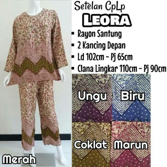 Foto Produk setelan celana panjang lengan panjang babydoll batik dari putri fery collection