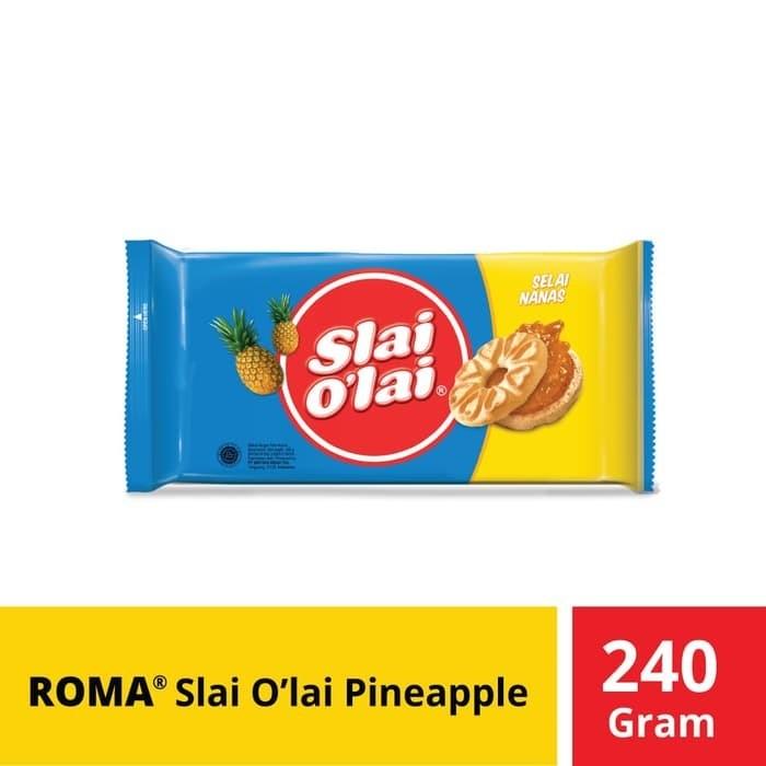 Foto Produk Roma Slai O'Lai Pineapple @240 Gr dari Mayora Official Store
