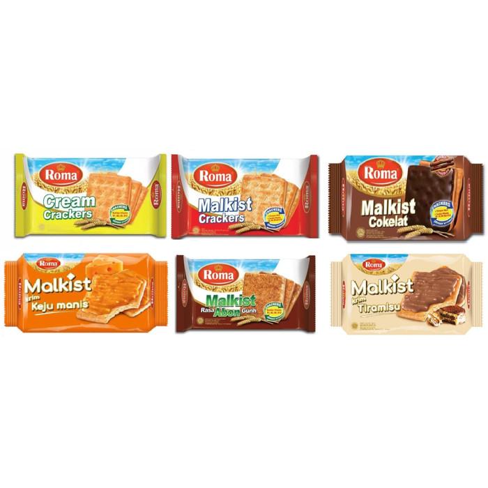 Foto Produk Roma Malkist Crackers 135gr - Tawar dari Bintang Terang Snack