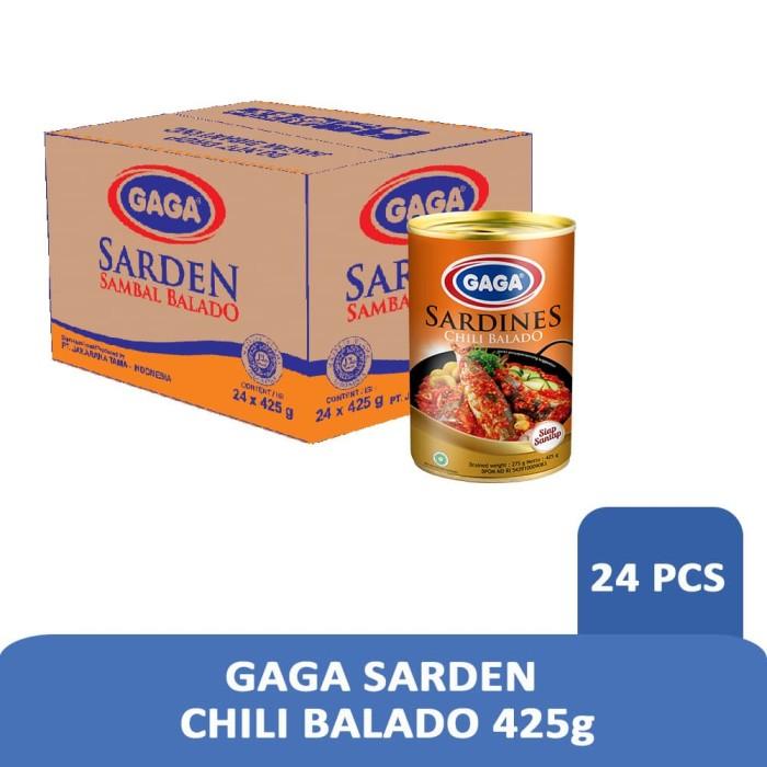 Foto Produk GAGA Sarden Balado Chili 425g (1 dus = 24 pcs Harga Grosir) dari Gaga Official Store