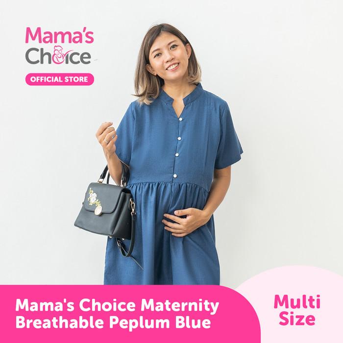 Foto Produk Mama's Choice Maternity Breathable Peplum - Biru Muda, S dari MamasChoiceID