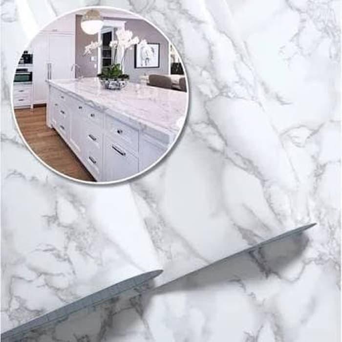 Jual Wallpaper Stiker Dinding Murah Motif Marmer Putih