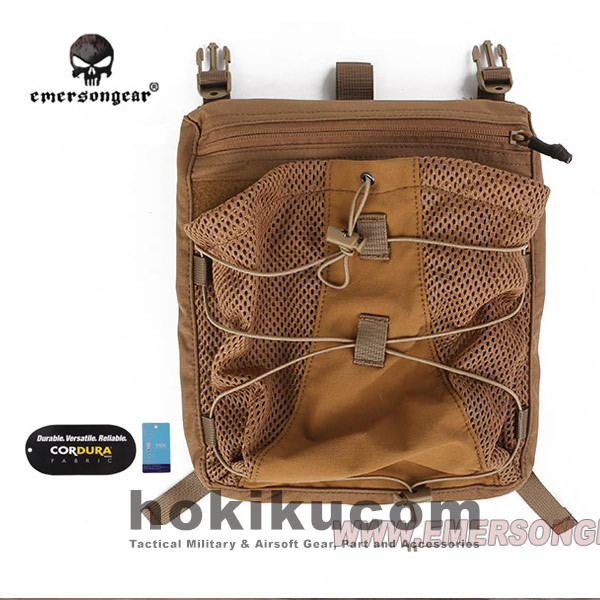 Foto Produk Tas Rompi Tactical Emerson Gear LXB Style Bungee Pack for 419/420 Vest - Brown Coklat dari Hokikucom