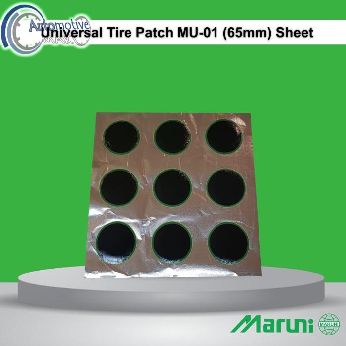 Foto Produk Maruni Universal MU-01 Lembar Isi 9pcs Karet Koyok Tambal Ban TipTop dari automotive mart