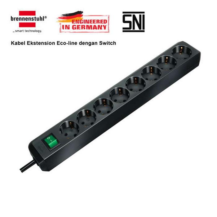 Foto Produk Brennenstuhl Stop Kontak 8 Socket Lubang Colokan Listrik - Eco Line dari sant's store