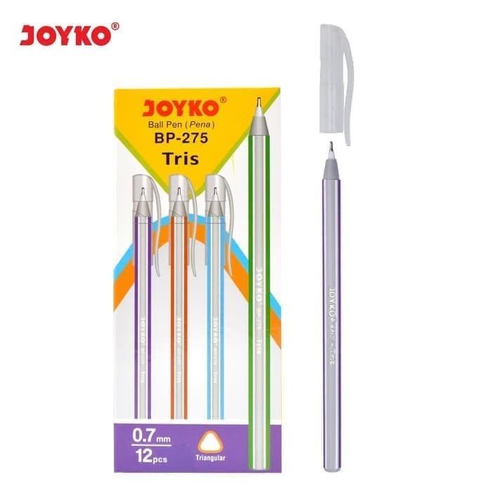 Foto Produk Ballpoint JOYKO BP-275 Tris 0,7 Hitam (Pack 12 Pcs) dari officemart