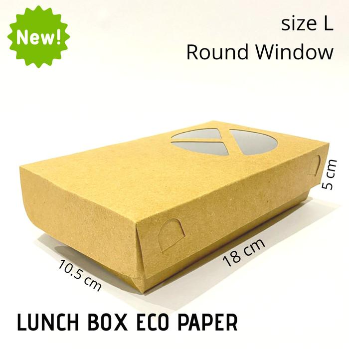 Foto Produk PAPER LUNCH BOX SIZE L/KOTAK TAKE AWAY/LUNCH BOX FOOD GRADE dari Prima Paper