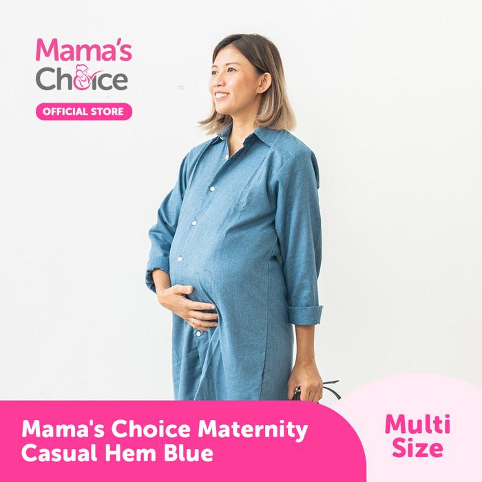 Foto Produk Mama's Choice Maternity Casual Hem - Biru Muda, S dari MamasChoiceID