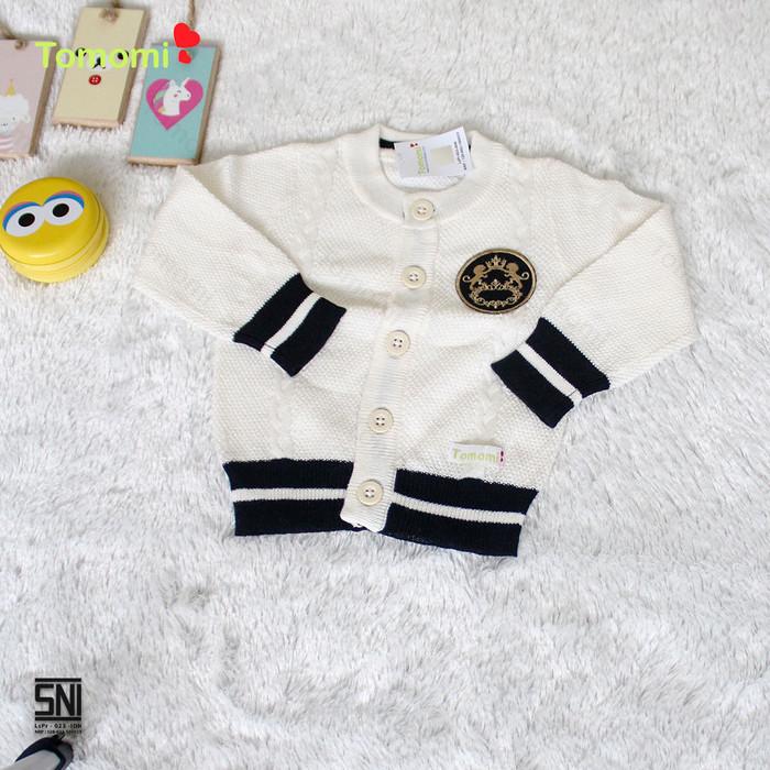 Foto Produk Cardigan Bayi Motif Lions - 3-6 Bulan, Putih dari Tomomi Baby Wear