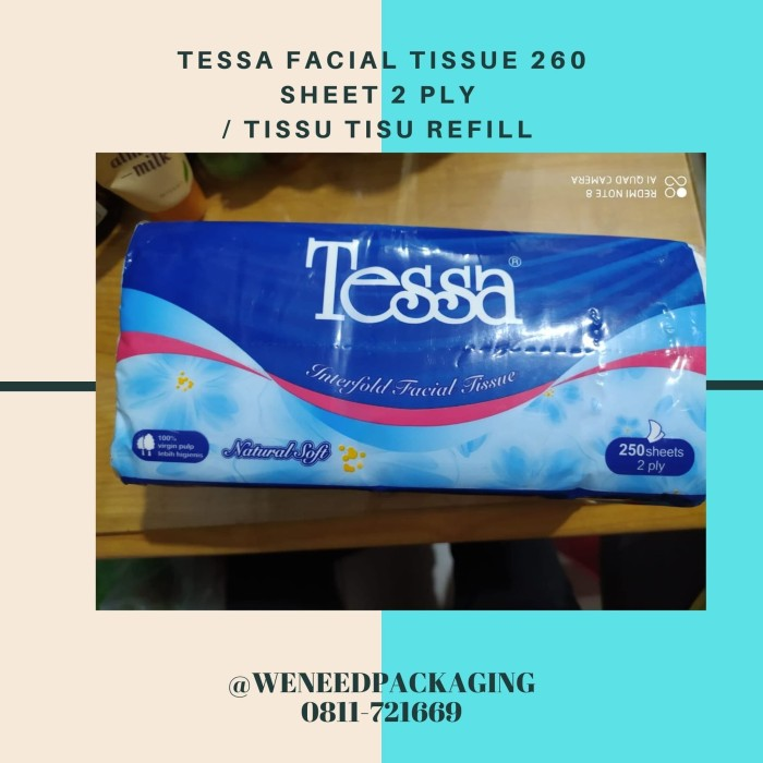 Foto Produk Tissue Tessa Facial 260 Sheet 2 Ply/ Tissu Tisu Refill / Grosir Murah dari weneedpackaging